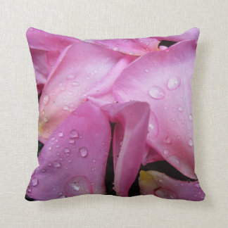 Pink Rose Petals Pillow