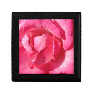 Pink Rose Petals Small Square Gift Box