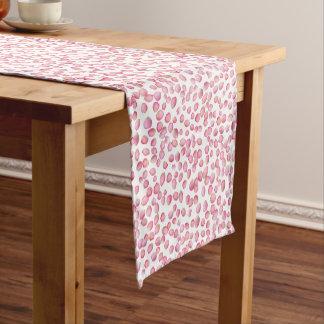 Pink rose petals table runner