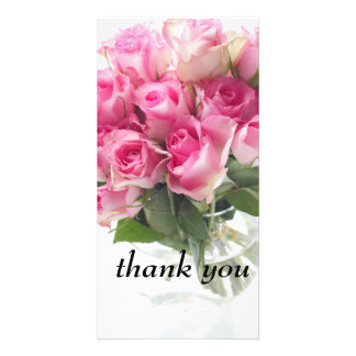 pink rose picture card