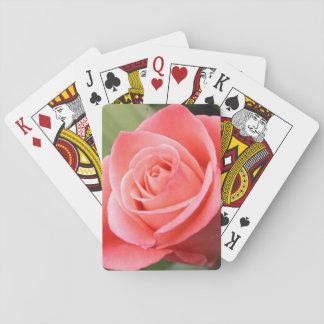 Pink Rose Playing Cards