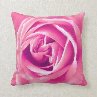 Pink rose print cushions