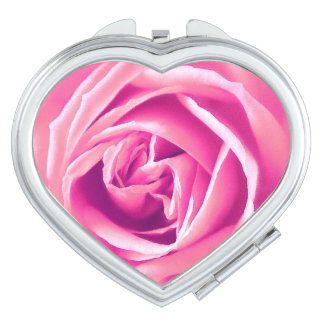 Pink rose print vanity mirrors