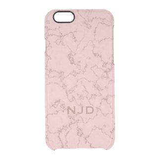 Pink Rose Quartz Marble Personalised iPhone 6/6s Clear iPhone 6/6S Case