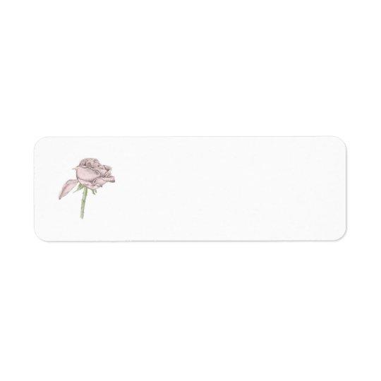 Pink Rose Return Address Labels