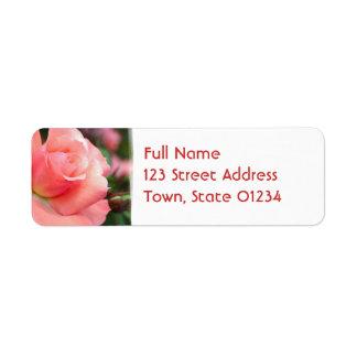 Pink Rose Return Address Mailing Label Return Address Label