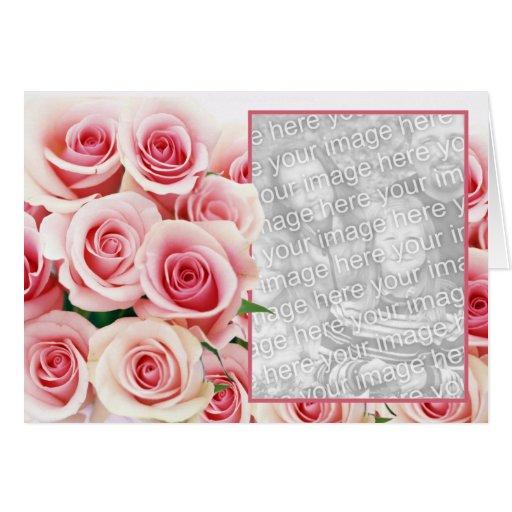Pink Rose Romance - Template Card