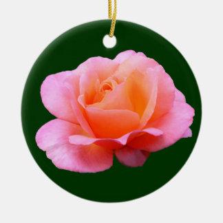 Pink Rose Round Ceramic Decoration