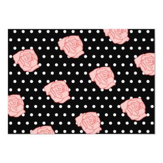 Pink Rose RSVP Card 13 Cm X 18 Cm Invitation Card