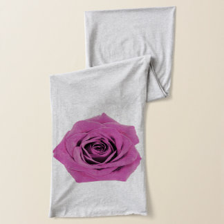 Pink Rose shown on Grey Scarf