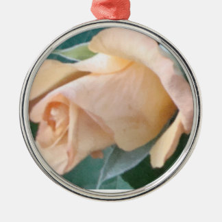 pink rose Silver-Colored round decoration