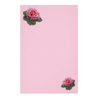 Pink Rose Stationery