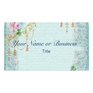 Pink Rose Tassels Business Cards