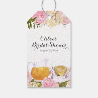 Pink Rose Teacup Bridal Shower Gift Tags