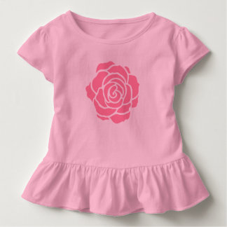 Pink Rose Toddler Ruffle T-Shirt