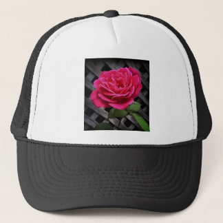 Pink Rose Trucker Hat