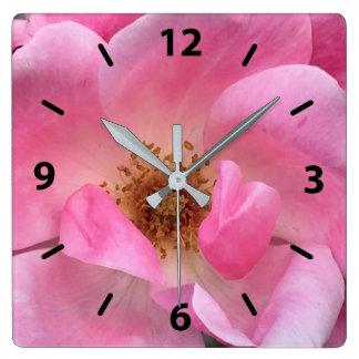 Pink Rose Wall Clocks