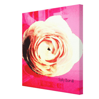 pink rose wall print canvas print