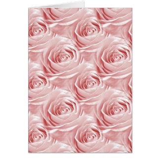 Pink Rose Wallpaper Pattern Card