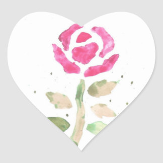 Pink Rose (Watercolor by K.Turnbull Art) Stickers