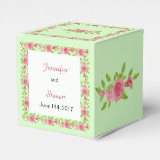 Pink Rose Wedding Favor Box