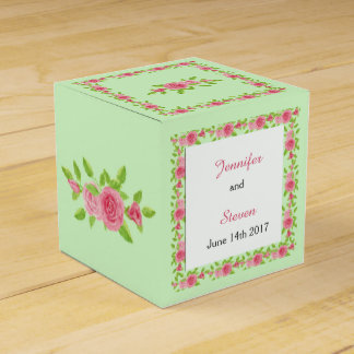 Pink Rose Wedding Favor Box Wedding Favour Boxes