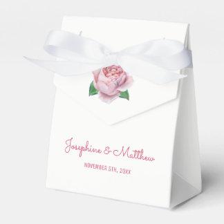 Pink Rose Wedding Favour Box
