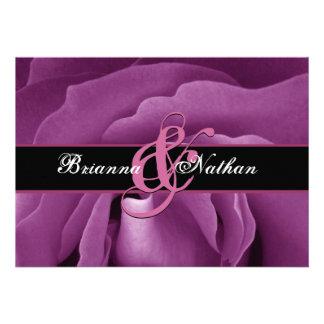 Pink Rose Wedding Personalized Invitation