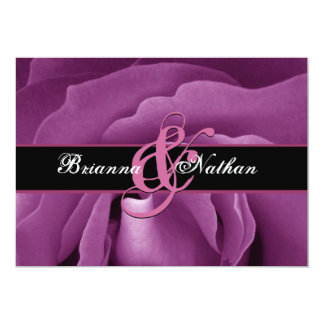Pink Rose Wedding Personalized Invitation