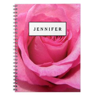 Pink Rose Wedding Photo Notebooks