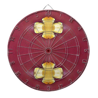 Pink Rose Yellow Modern Simplistic Pattern Dartboard