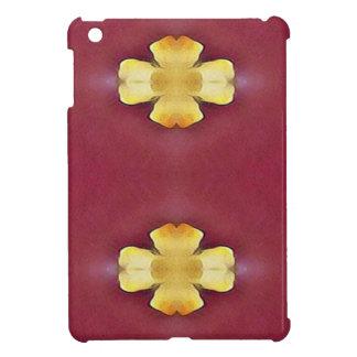 Pink Rose Yellow Modern Simplistic Pattern iPad Mini Cover