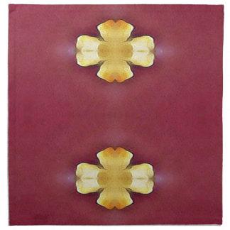 Pink Rose Yellow Modern Simplistic Pattern Napkin