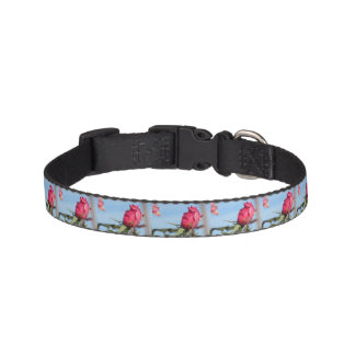 Pink Rosebud Pet Collar