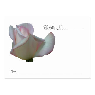 Pink Rosebud Wedding Table Place Cards Business Card Template