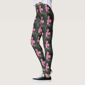 Pink Roses and Garden Glove Leggings