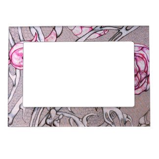 Pink Roses and Thorns. Magnetic Picture Frame