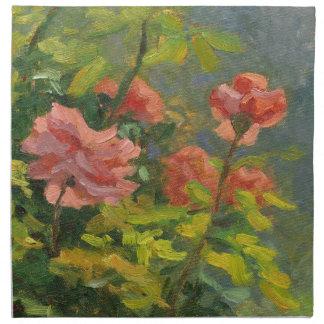 Pink Roses at Sunset Napkin