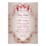 Pink Roses Baby Girl Shower Invitations