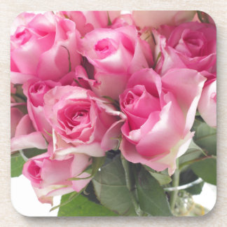 Pink Roses Bouquet コースター
