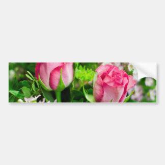 Pink Roses Bouquet Bumper Sticker