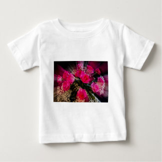 Pink Roses Bouquet Explosion Baby T-Shirt