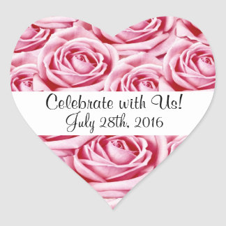 Pink Roses Celebrationl Sticker