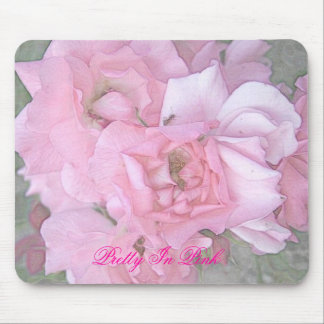 Pink Roses Color Pencil Poster Pretty In Pink Mouse Mat