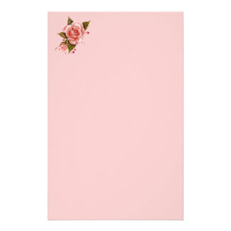 Pink Roses Customised Stationery