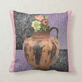 pink roses decorative throw pillow melamine