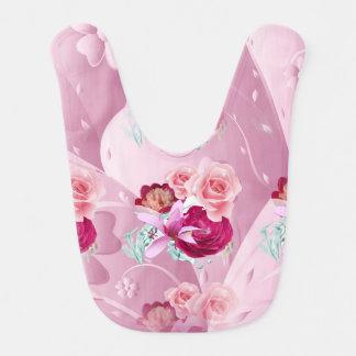 Pink Roses Design Baby Bib