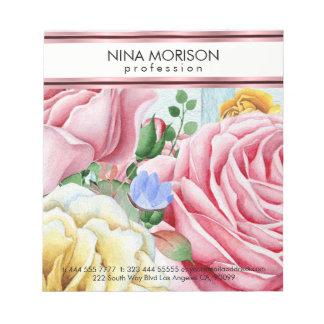 Pink Roses Design Notepad