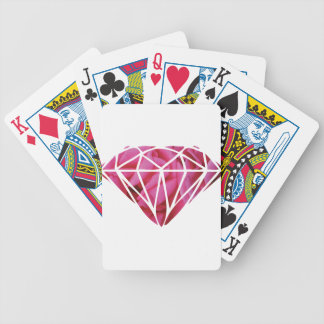 Pink roses diamond poker deck