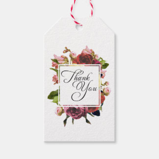 Pink Roses Floral Bouquet Thank You